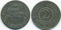 2 Pfennig 1917 Hessen/Nassau Marburg - Eis...
