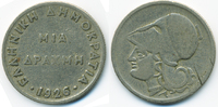 1 Drachme 1926 Griechenland - Greece Zweite Republik 1924-1935 fast seh... 1,50 EUR  +  1,80 EUR shipping