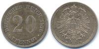 20 Pfennig 1876 E Kaiserreich kleiner Adler - Silber vorzüglich+  30,00 EUR  +  4,80 EUR shipping