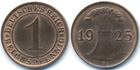 1 Reichspfennig 1925 D Weimarer Republik Kupfer prägefrisch  46,00 EUR  +  4,80 EUR shipping