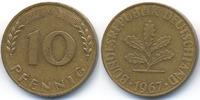 10 Pfennig 1967 G BRD Stahl/tombakplattiert sehr schön/vorzüglich - win... 28,00 EUR  +  4,80 EUR shipping