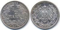 1/2 Mark 1917 G Kaiserreich Silber prägefrisch  39,00 EUR  +  4,80 EUR shipping