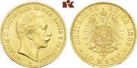 10 Mark 1889 A. Preussen Wilhelm II., 1888-1918. Stempelglanz  19475,00 EUR free shipping