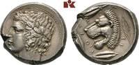 AR-Tetradrachme, um 430 v. Chr.; SICILIA LEONTINOI. Schrötlingsriß, Ave... 6850,00 EUR free shipping