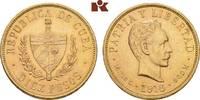 10 Pesos 1916. KUBA Republik seit 1902. Fa...