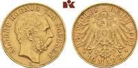 10 Mark 1901. Sachsen Albert, 1873-1902. F...