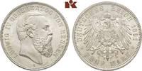 5 Mark 1891. Hessen Ludwig IV., 1877-1892. Winz. Kratzer, fast Stempelg... 4975,00 EUR free shipping