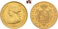 4 Escudos 1865, Madrid. SPANIEN Isabella II., 1833-1868. Min. Randfehle... 275,00 EUR  +  9,90 EUR shipping