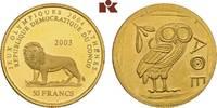 50 Francs 1965. KONGO Republik Kongo (Zair...