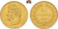 20 Francs 1846 A, Par FRANKREICH Louis Phi...