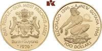 100 Dollars 1976. GUYANA  Polierte Platte