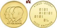 1.500 Kronen 2005, Kongsberg. NORWEGEN Harald V. seit 1991. Polierte Pl... 715,00 EUR  +  9,90 EUR shipping