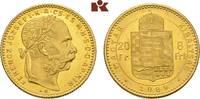 20 Franken (8 Forint) 1889 KB, Kremnitz. KAISERREICH ÖSTERREICH Franz J... 295,00 EUR  +  9,90 EUR shipping