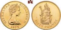 50 Pounds 1975. GIBRALTAR Elizabeth II. se...