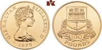 100 Pounds 1975. GIBRALTAR Elizabeth II. seit 1952. Min. Kratzer, vorzü... 1245,00 EUR  +  9,90 EUR shipping