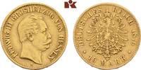 10 Mark 1876. Hessen Ludwig III., 1848-1877. Sehr schön  345,00 EUR  +  9,90 EUR shipping