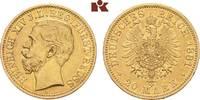 20 Mark 1881. Reuss Jüngerer Linie Heinrich XIV., 1867-1913. Sehr schön... 6475,00 EUR free shipping