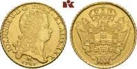 12.800 Reis 1731 M, Minas Gerais. BRASILIEN Johann V., 1706-1750. Fast ... 5675,00 EUR free shipping