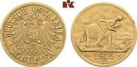 15 Rupien 1916 T, Tabora. Deutsch-Ostafrika  Kl. Randfehler, fast vorzü... 4375,00 EUR free shipping