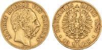 10 Mark 1874. Sachsen Albert, 1873-1902. Sehr schön +  875,00 EUR  +  9,90 EUR shipping
