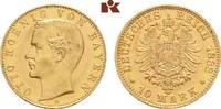 10 Mark 1888. Bayern Otto II., 1886-1913. Winz. Kratzer, fast Stempelgl... 1875,00 EUR  +  9,90 EUR shipping