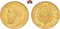 10 Mark 1876. Baden Friedrich I., 1852-1907. Vorzüglich +  375,00 EUR  +  9,90 EUR shipping