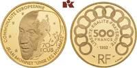 500 Francs (70 Ecus) 1992. FRANKREICH 5. R...