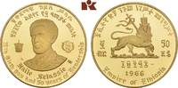 50 Dollars 1966. ÄTHIOPIEN Haile Selassie,...