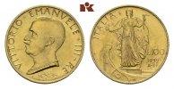 100 Lire 1932/X R, R ITALIEN Victor Emanue...