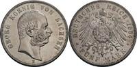 5 Mark 1904 Sachsen Georg, 1902-1904 fast ...