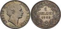 Gulden 1866 Bayern Ludwig II., 1864-1886 s...