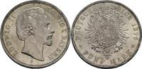 5 Mark 1876 Bayern Ludwig II., 1864-1886 v...