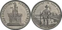 Zinn-Medaille 1862 Frankfurt  ss, min. Ran...