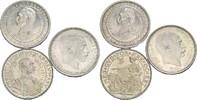 3 x 2 Kronen 1903/06/12 Dänemark  vz, min....