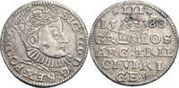 3-Gröscher, Riga 1588 Polen, Riga Sigismun...