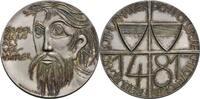 Sachseln Silbermedaille, v. B. Luchetta Auf Bruder Klaus u. den Beitritt v. Freiburg u. Solothurn zur Eidgenossenschaft