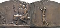 Bronzeplakette 1919 Frankreich  fast vz