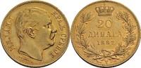 20 Dinara, Venedig 1882 Serbien Milan IV. ...