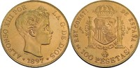 100 Pesetas 1897 Spanien Alfonso XIII. (18...