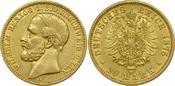 20 Mark 1875 A Kaisrreich Braunschweig Wilhelm vz