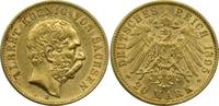 20 Mark 1895 E Deutschland Sachsen König A...
