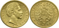 20 Mark 1874 D Deutschland Bayern König Lu...