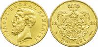 20 Lei 1883 Rumänien Karl I. ss-vz