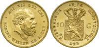 10 Gulden 1875 Niederlande Wilhelm III. vz-st