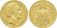 10 Mark 1873 D Kaiserreich Bayern König Lu...