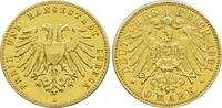 10 Mark 1901 A Kaiserreich Lübeck Freie un...
