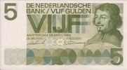 5 Gulden 26 april 19 Nederland type 1966 unz
