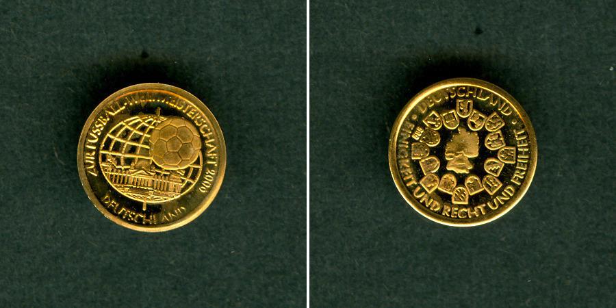 2006 Medaillen Medaille Deutschland Fussball Wm 2006 Gold St Stgl