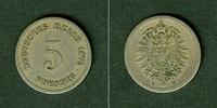 1875 Kleinmünzen 5 Pfennig DEUTSCHES REIC...