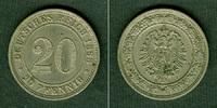 1888 Kleinmünzen 20 Pfennig DEUTSCHES REI...